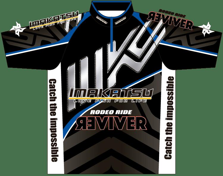 IK-846 IK Tournament Shirt ブラック×ブルー オモテ