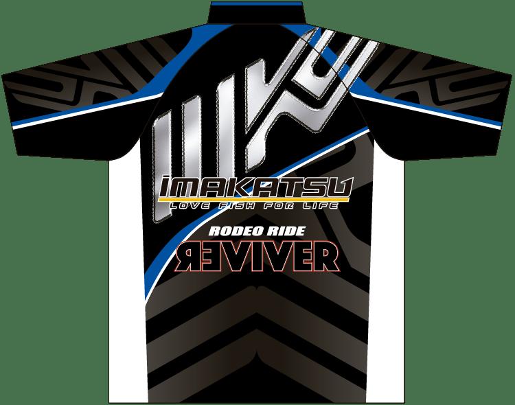 IK-846 IK Tournament Shirt ブラック×ブルー ウラ