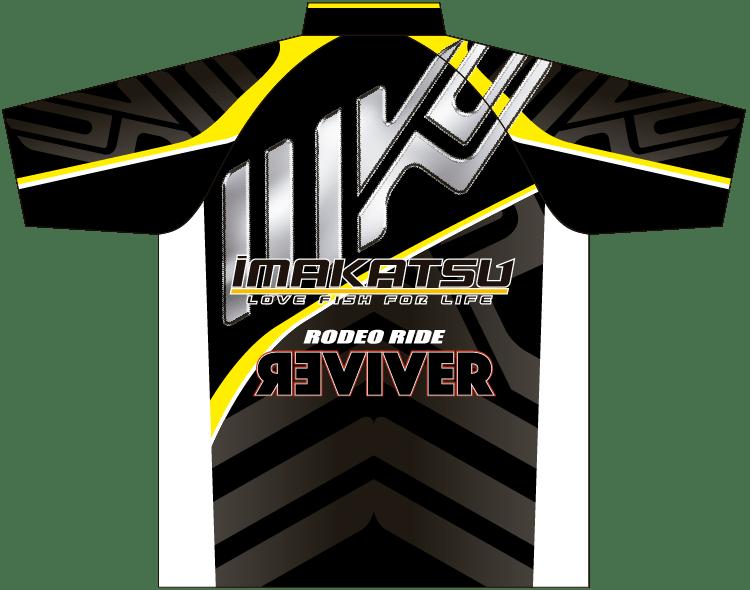 IK-846 IK Tournament Shirt ブラック×イエロー ウラ