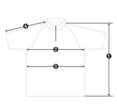 IK-846 IK Tournament Shirt サイズ 採寸